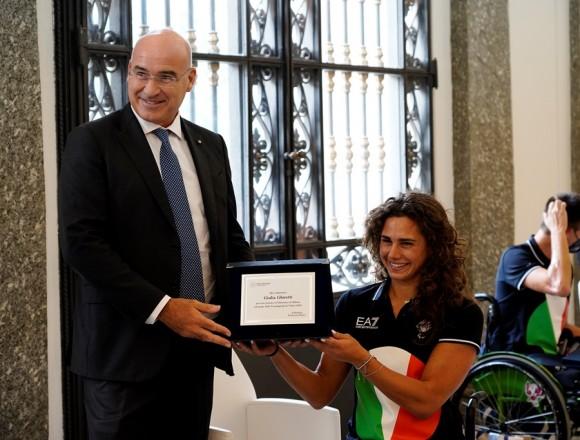 Giulia premiata dal Politecnico di Milano